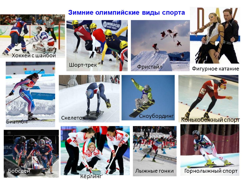 Зимние виды спорт картинки 3